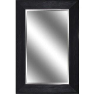 Reflection Dark Bronze Woodgrain 3.75-inch-thick, 24-inch x 36-inch Beveled Mirror