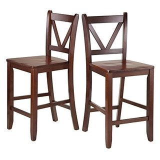 Victor 2-pc 24-inch V Back Counter Stools