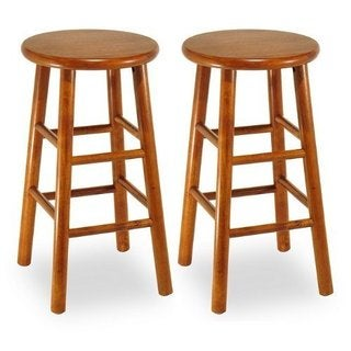 Set of 2, Swivel Seat, 30-inch Stool, Assembled