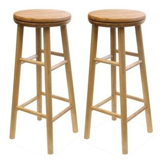 Sets of 2, Swivel 30-inch Stool, Assembled
