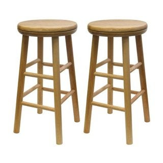 Set of 2, Swivel 24-inch Stool, Assembled