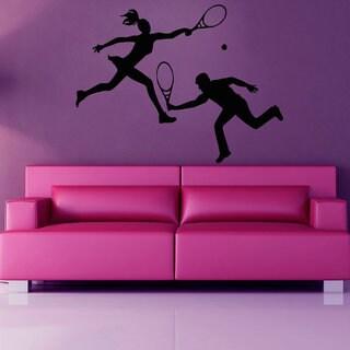 Tennis Wall Decals Tennis Players Sport Girl Boy Wall Decal Gym Home Decor Vinyl Wall Decor Sticker