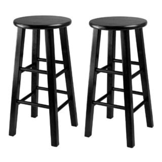 Set of 2, Counter Stool, 24-inch Square Leg Stools