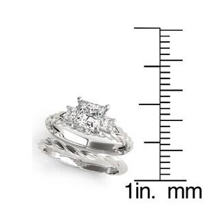 Transcendent Brilliance 14k Gold 2 1/3ct TDW Princess-Cut Diamond 3-Stone Bridal Set (G, VS2)