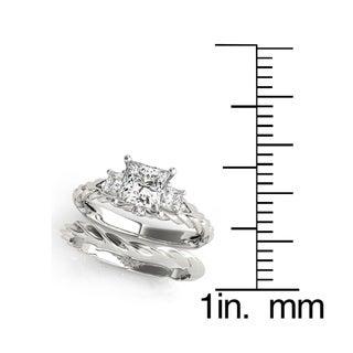 Transcendent Brilliance 14k Gold 3 1/3ct TDW Princess-Cut Diamond 3-Stone Bridal Set (G, VS2)