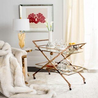 Link to Safavieh Couture High Line Collection Marcelo Bar Cart Similar Items in Home Bars