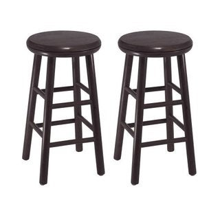 Set of 2, 24-inch Swivel Kitchen Stool, Assembled