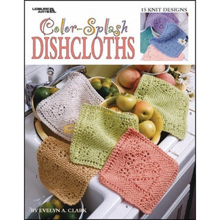 Leisure Arts-Color-Splash Dishcloths