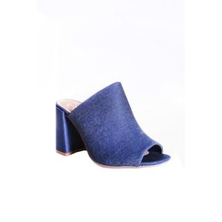 Hadari Women's Block Heel Open Toe Sandal