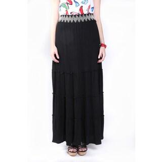 Hadari Women's Embroidered Maxi Skirt