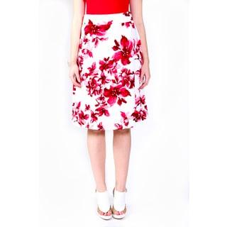 Hadari Women's Stacy High Waist Midi Skirt