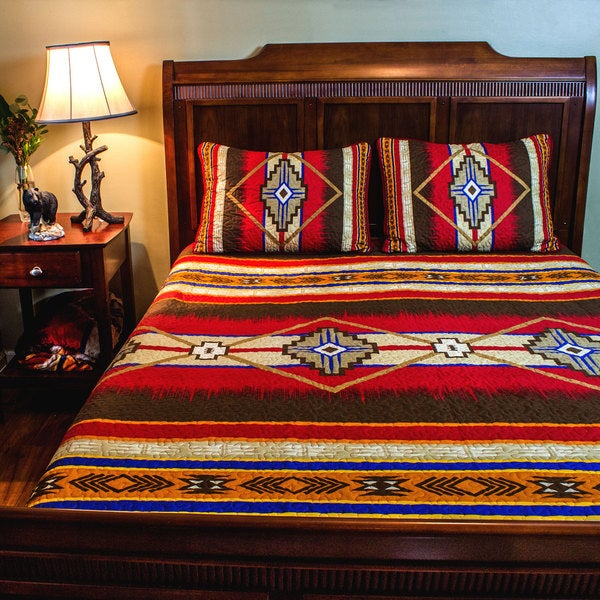 Shop Southwest Quilt Set Free Shipping Today Overstock