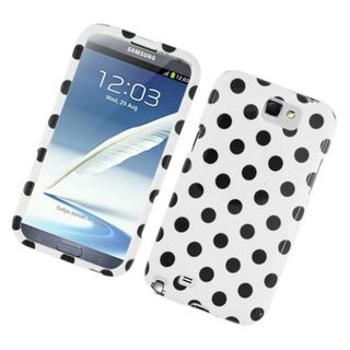 Insten Polka Dots Hard Snap-on Case Cover For Samsung Galaxy Note II