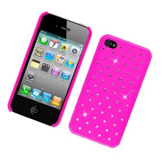 Insten Hard Snap-on Rubberized Matte Case Cover with Diamond For Apple iPhone 4/ 4S