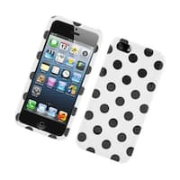 Insten Polka Dots Hard Snap-on Case Cover For Apple iPhone 5/ 5S