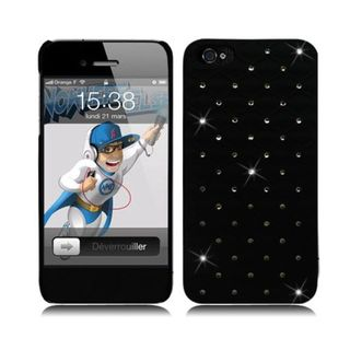 Insten Hard Snap-on Rubberized Matte Case Cover with Diamond For Apple iPhone 5/ 5S
