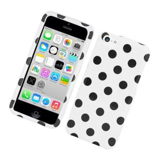 Insten Polka Dots Hard Snap-on Case Cover For Apple iPhone 5C