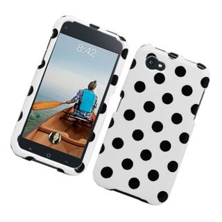 Insten Polka Dots Hard Snap-on Case Cover For HTC First