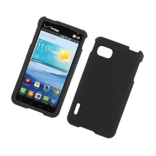 Insten Hard Snap-on Rubberized Matte Case Cover For LG Optimus F3 LS720