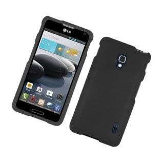 Insten Hard Snap-on Rubberized Matte Case Cover For LG Optimus F6
