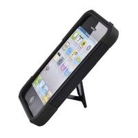 Insten Hard PC/ Silicone Dual Layer Hybrid Case Cover with Stand For Apple iPhone 5/ 5S