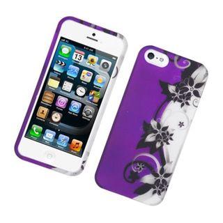 Insten Vine Flower Hard Snap-on Rubberized Matte Case Cover For Apple iPhone 5/ 5S