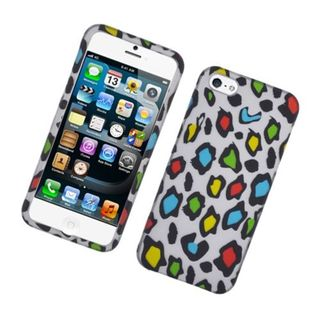 Insten Multi-Color Leopard Hard Snap-on Rubberized Matte Case Cover For Apple iPhone 5/ 5S
