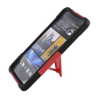 Insten Hard PC/ Silicone Dual Layer Hybrid Case Cover with Stand For HTC One M7
