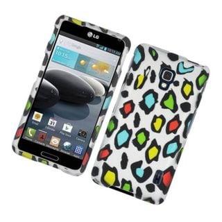 Insten Multi-Color Leopard Hard Snap-on Rubberized Matte Case Cover For LG Optimus F6