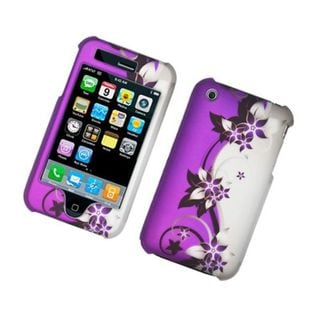 Insten Vine Flower Hard Snap-on Rubberized Matte Case Cover For Apple iPhone 3G/ 3GS