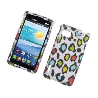 Insten Multi-Color Leopard Hard Snap-on Rubberized Matte Case Cover For LG Optimus F3 LS720