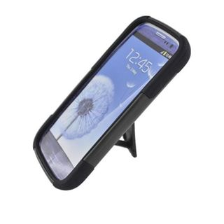Insten Hard PC/ Silicone Dual Layer Hybrid Case Cover with Stand For Samsung Galaxy S3