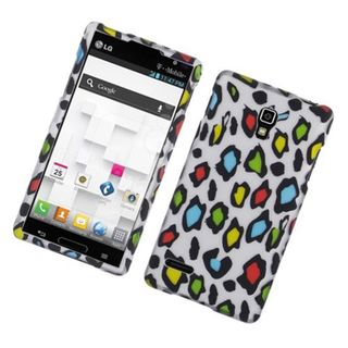 Insten Multi-Color Leopard Hard Snap-on Rubberized Matte Case Cover For LG Optimus L9 P769