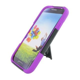 Insten Hard PC/ Silicone Dual Layer Hybrid Case Cover with Stand For Samsung Galaxy S4