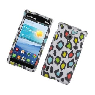Insten Multi-Color Leopard Hard Snap-on Rubberized Matte Case Cover For LG Lucid 2