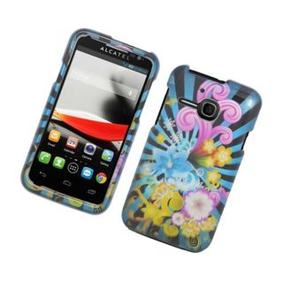 Insten Blue/ Colorful Fireworks Hard Snap-on Glossy Case Cover For Alcatel One Touch Evolve