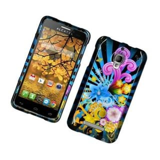 Insten Blue/ Colorful Fireworks Hard Snap-on Glossy Case Cover For Alcatel One Touch Fierce