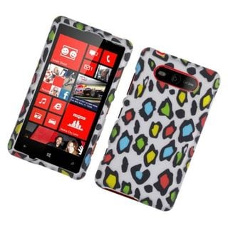 Insten Multi-Color Leopard Hard Snap-on Rubberized Matte Case Cover For Nokia Lumia 820