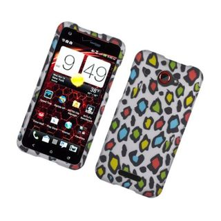 Insten Colorful Leopard Hard Snap-on Rubberized Matte Case Cover For HTC Droid DNA
