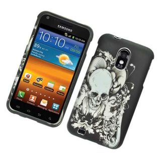 Insten Black/ White Skull Hard Snap-on Rubberized Matte Case Cover For Samsung Galaxy S2 Epic 4G Touch