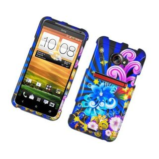 Insten Blue/ Colorful Fireworks Hard Snap-on Glossy Case Cover For HTC EVO 4G LTE