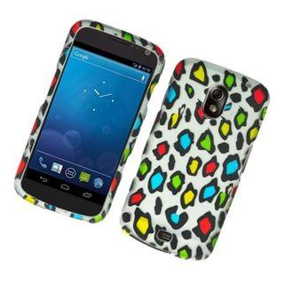 Insten Multi-Color Leopard Hard Snap-on Rubberized Matte Case Cover For Samsung Galaxy Google Nexus i515 (Verizon)