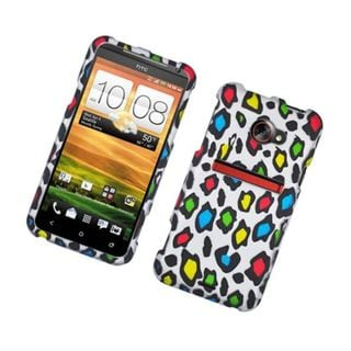 Insten Colorful Leopard Hard Snap-on Rubberized Matte Case Cover For HTC EVO (LTE version)