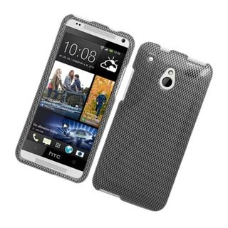 Insten Dark Grey Carbon Fiber Hard Snap-on Glossy Case Cover For HTC One Mini
