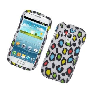 Insten Multi-Color Leopard Hard Snap-on Rubberized Matte Case Cover For Samsung Galaxy S3 Mini