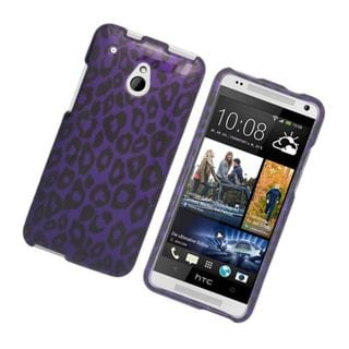 Insten Purple Leopard Hard Snap-on Glossy Case Cover For HTC One Mini