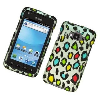 Insten Multi-Color Leopard Hard Snap-on Rubberized Matte Case Cover For Samsung Rugby Smart