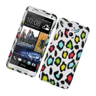Insten Colorful Leopard Hard Snap-on Rubberized Matte Case Cover For HTC One Mini