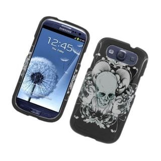 Insten Black/ White Skull Hard Snap-on Glossy Case Cover For Samsung Galaxy S3