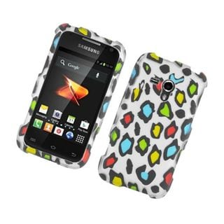 Insten Multi-Color Leopard Hard Snap-on Rubberized Matte Case Cover For Samsung Galaxy Rush